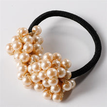 Load image into Gallery viewer, Pearls Elastic Hair Band Rubber