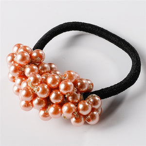 Pearls Elastic Hair Band Rubber