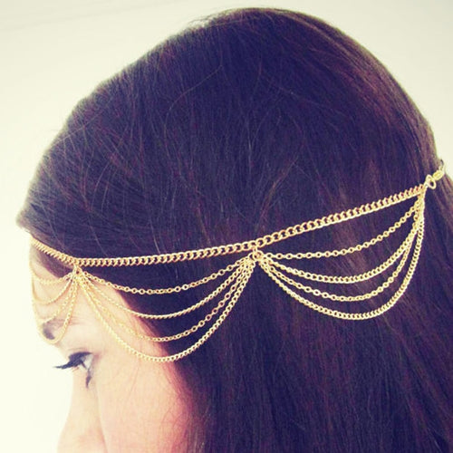 Gold Headchain Metal Multilayer