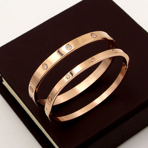Beautiful Lovers Bracelets Stainless Steel Bangles