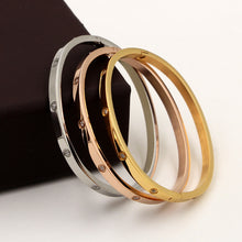 Load image into Gallery viewer, Beautiful Lovers Bracelets Stainless Steel Bangles