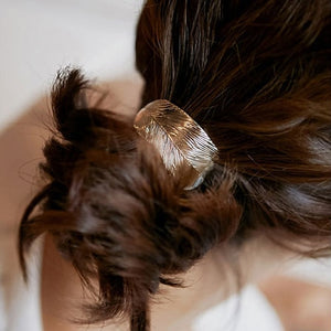 New Arrival Hair Rope Ornaments Thin Metal Leaves Rubber Band