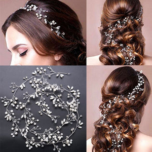 Wedding Hair Accessories Crystal Pearl Hair Belt