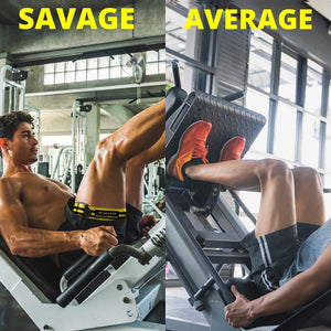 Shape Savages Blood Flow Restriction Bands - Occlusion Bands 4 Pack with 2 Bicep and 2 Leg Bands - Perfect for Muscle Growth and Training Bands for Gym - Strong Workout Bands for Savages