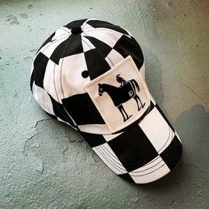 DE Horse & Crow checkered hat