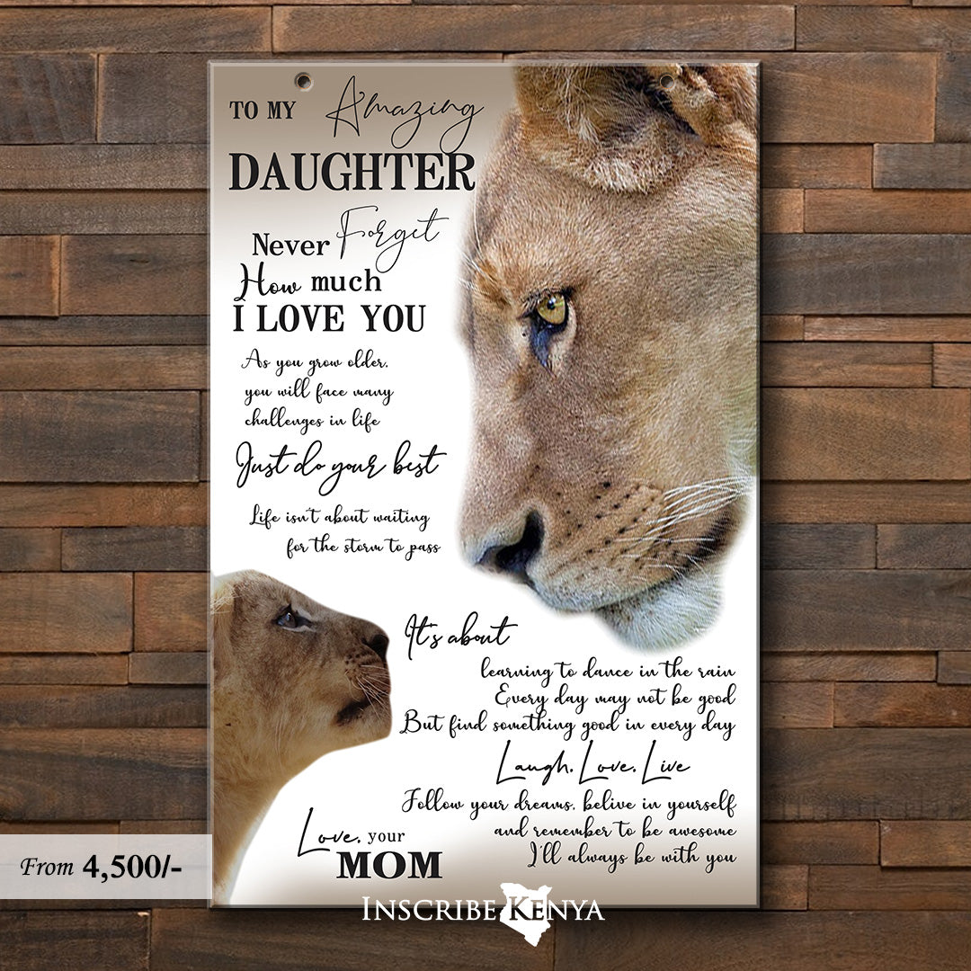 Lion Mom to daughter Wall Hang Decor