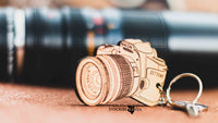 Camera Wooden Keychain