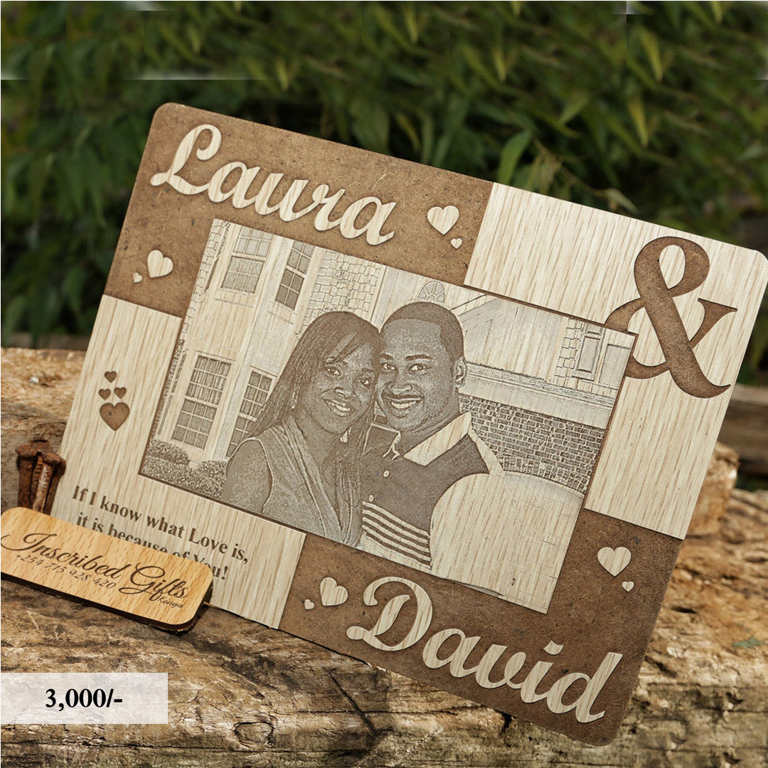 Wooden Quotes Inscribed Photo Frame PF002