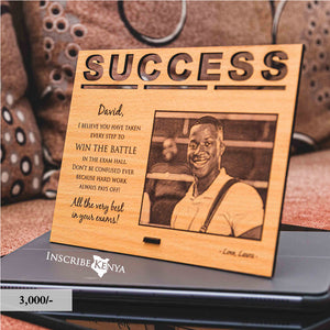 Wooden Success Inscribed Photo Frame PF005