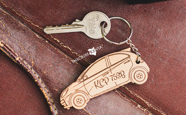 Car Wooden Keychain