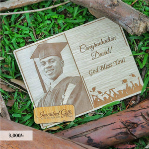 Wooden Grad Inscribed Photo Frame PF010