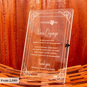 Acrylic Simple Inscribed Message Frame MF012