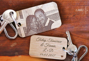 Wooden Photo Keychain