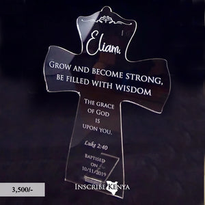 Acrylic Cross Inscribed Message Frame MF017