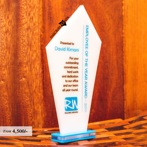 Acrylic Colored Sharp Top Award/Tophy Plaque A020