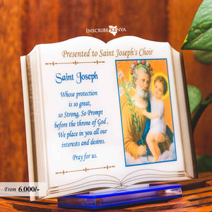 Acrylic Bible / Book shaped Picture Award/Trophy Plaque A023