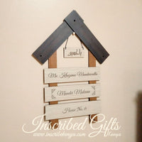 House tiled wooden nameplate (15 by 17 Inches)