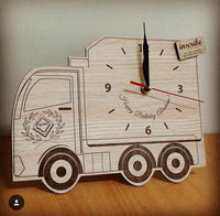 Truck Vehicle shaped wooden wall clock