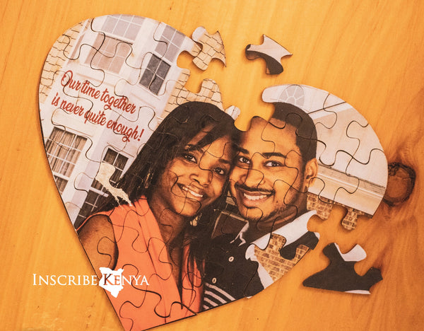 Acrylic Heart Shaped Puzzle
