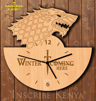 GOT Winter Wooden Wall Clock