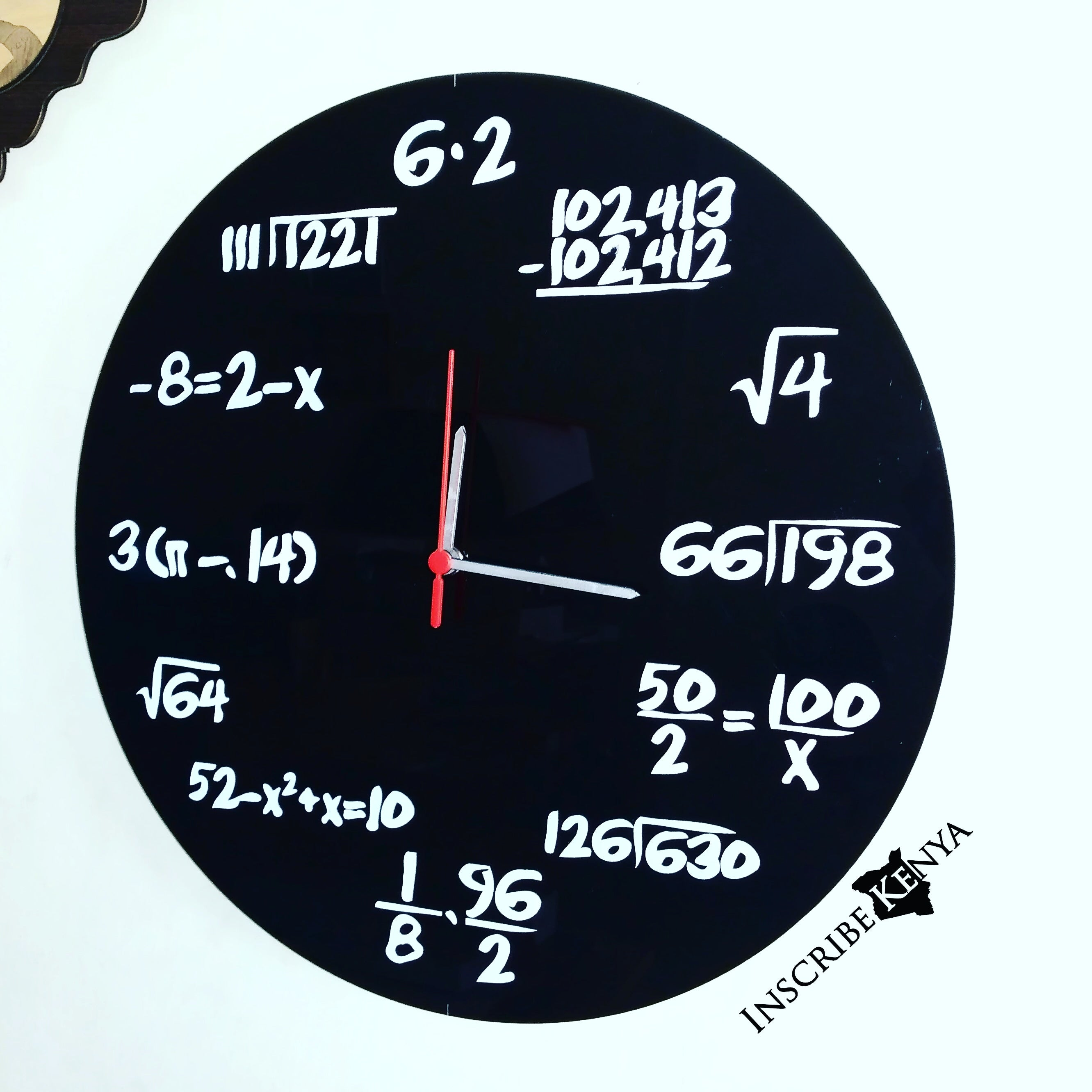 Acrylic Maths Clock