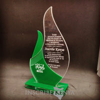 Acrylic Flame Award Trophy Plaque