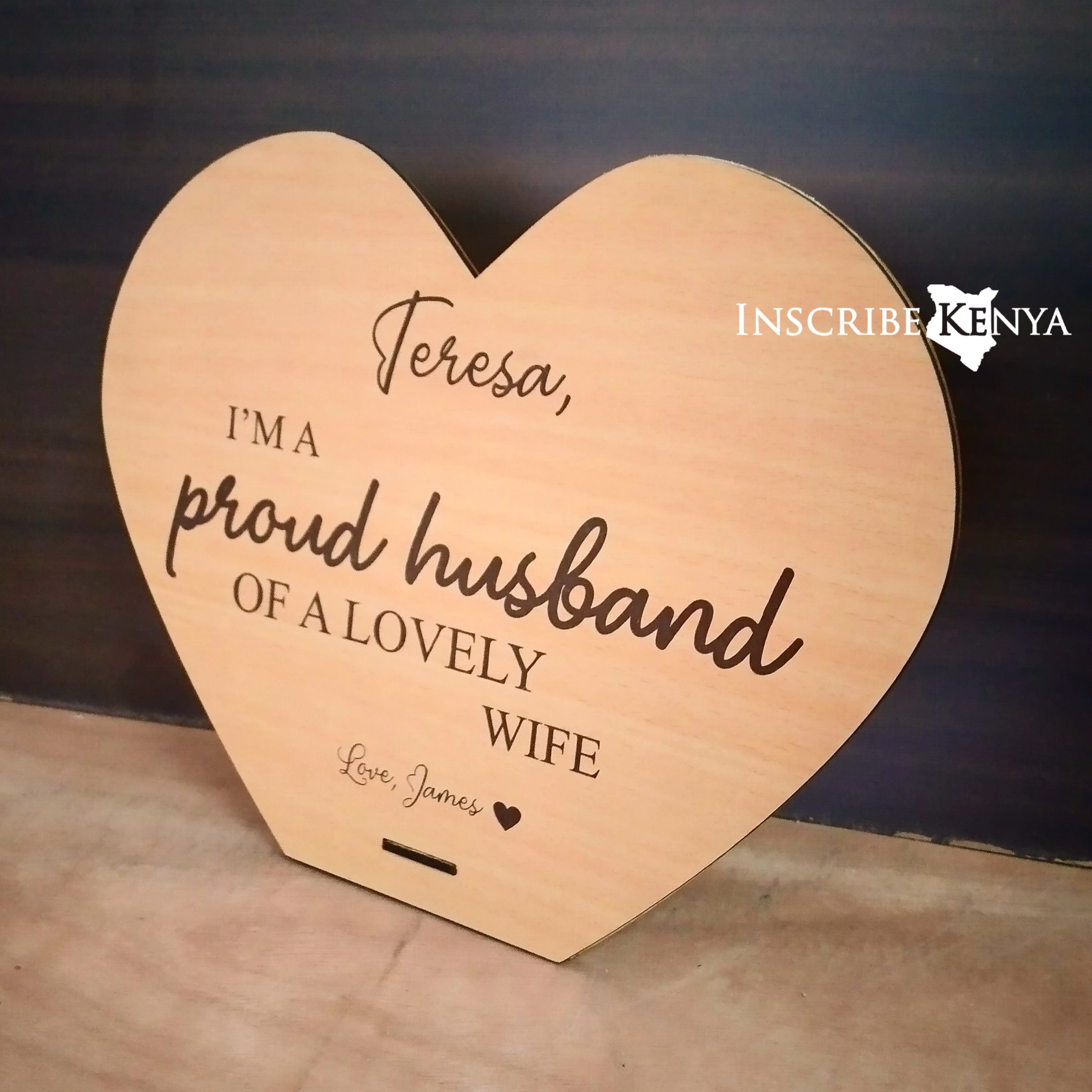 Heart Proud Husband Plaque