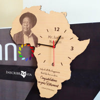 Africa Shaped Wooden Wall Clock