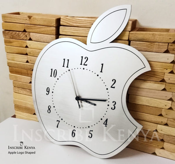 Apple Logo Acrylic Wall Clock