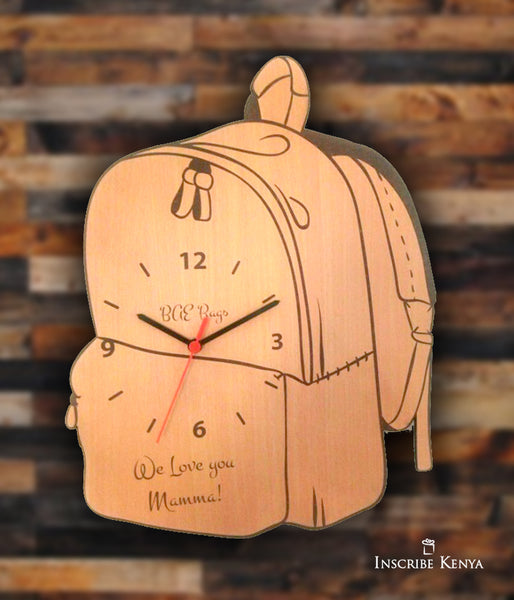 Wooden Bag Clock