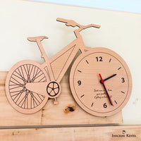 Bicycle Shaped Wooden Wall Clock