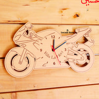 Wooden Bike Wall Clock