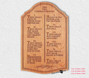 The 10 Commandments Wooden Wall Hang