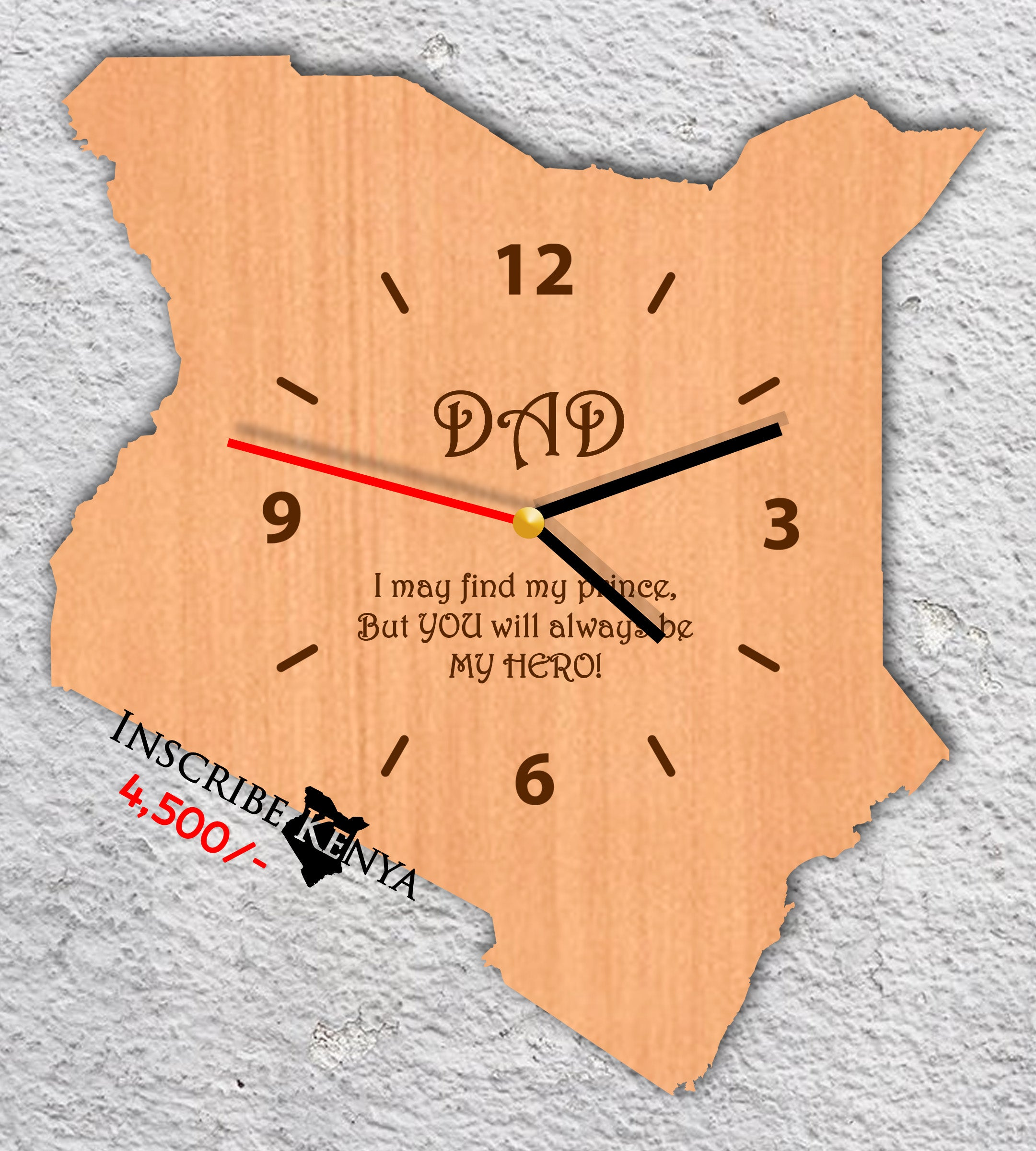 Kenya Wooden Wall Clock Light