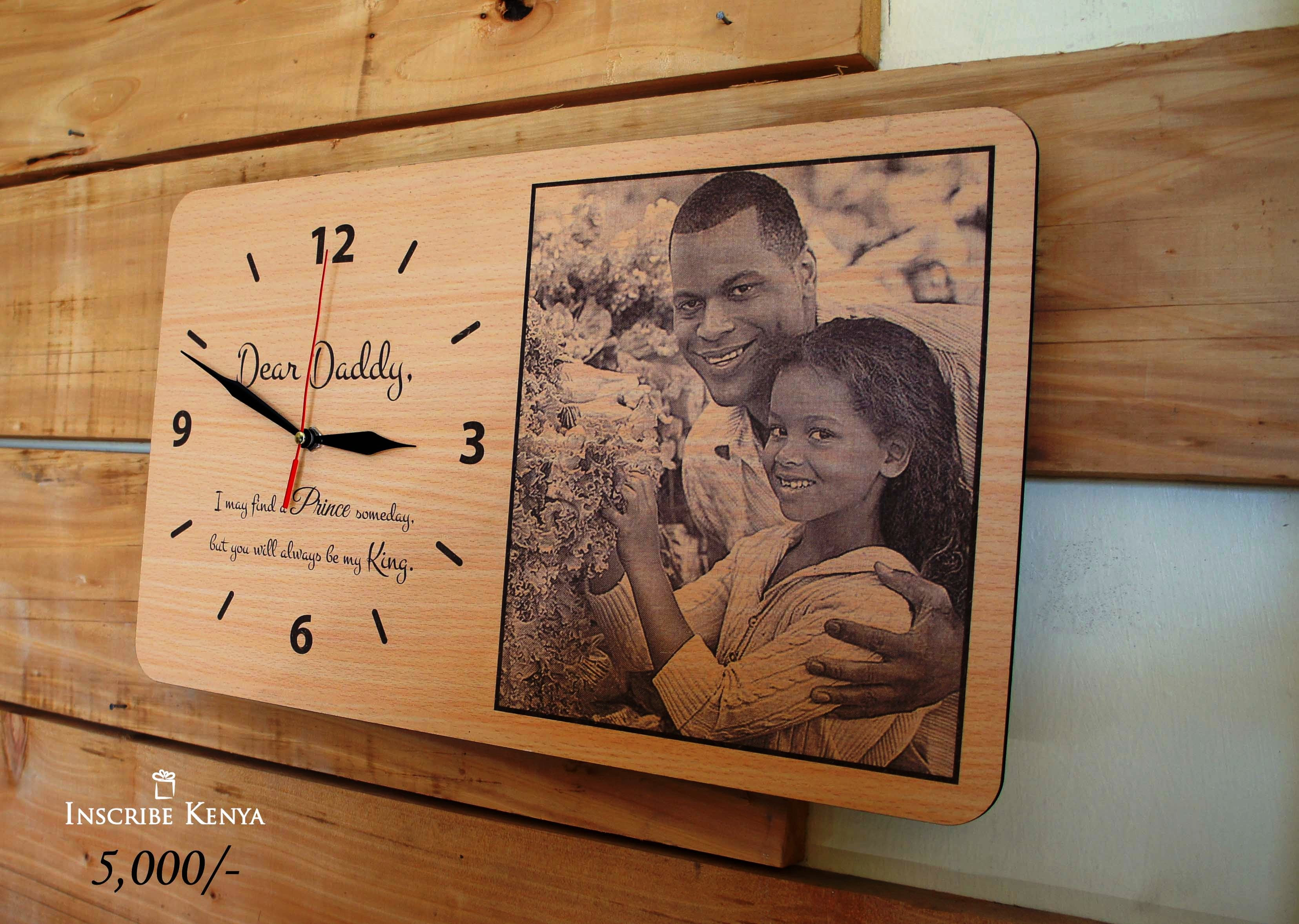 Wooden Rectangular Picture Clock