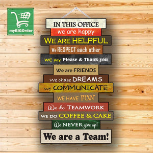 In this Office Wall hang 16 by 27 Inches (Tough Cardboard)
