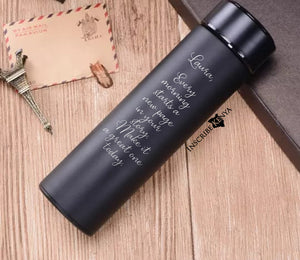 Metallic Thermal bottle inscribed