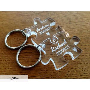 Acrylic Puzzle Pair Keychains