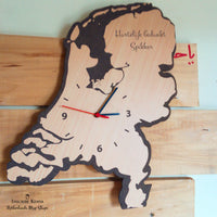 Netherlands Wooden Wall Clock