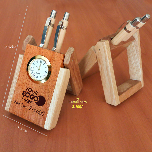 Elegant Wooden Pen Holder