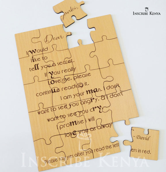 Personalized Wooden Puzzle