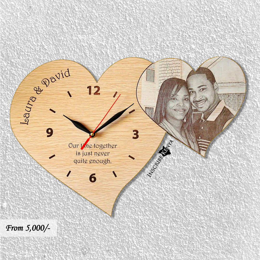 Wooden Hearts Clock WC002