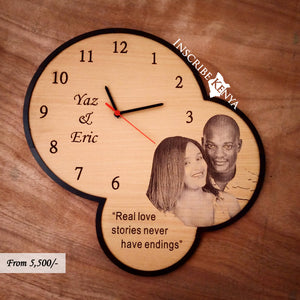 Wooden Tricircle Picture Wall Clock WC010