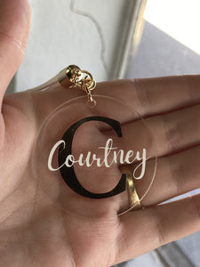Monogramed Foil Keyring - Makeup and Beauty Courses Online