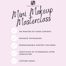 Load image into Gallery viewer, Mini Makeup Masterclass - Makeup and Beauty Courses Online