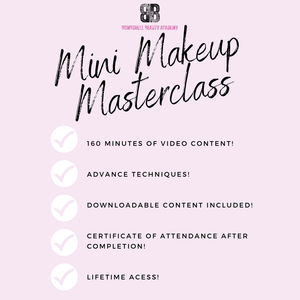 Mini Makeup Masterclass - Makeup and Beauty Courses Online