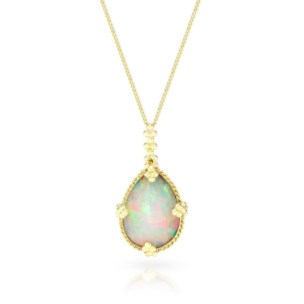 Amali-Faceted Ethiopian Opal Necklace