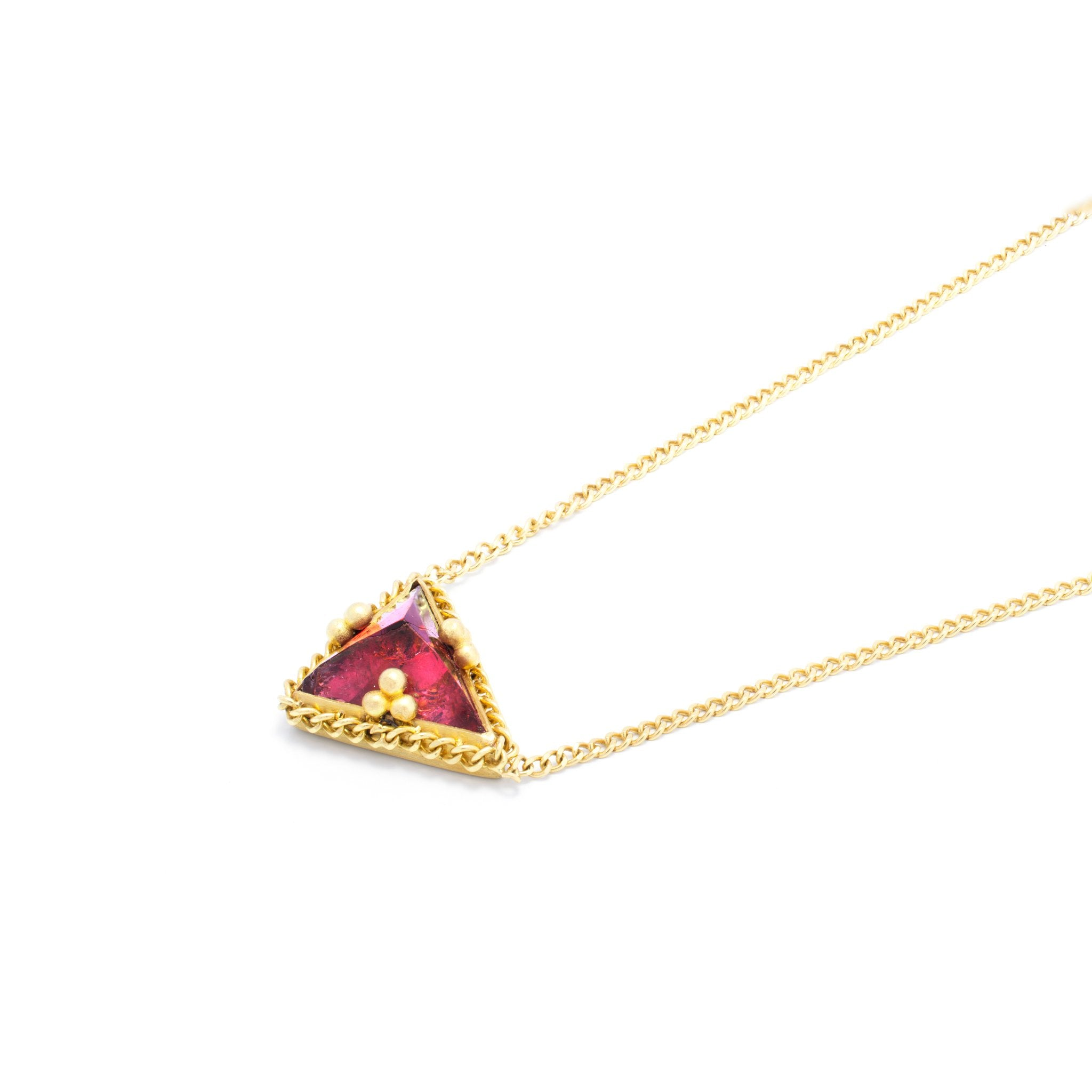 Amali Triangular Tourmaline Necklace