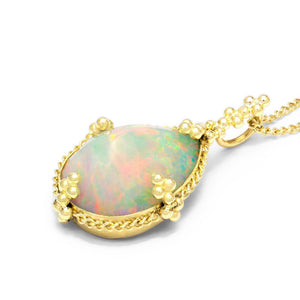Faceted Ethiopian Opal Necklace