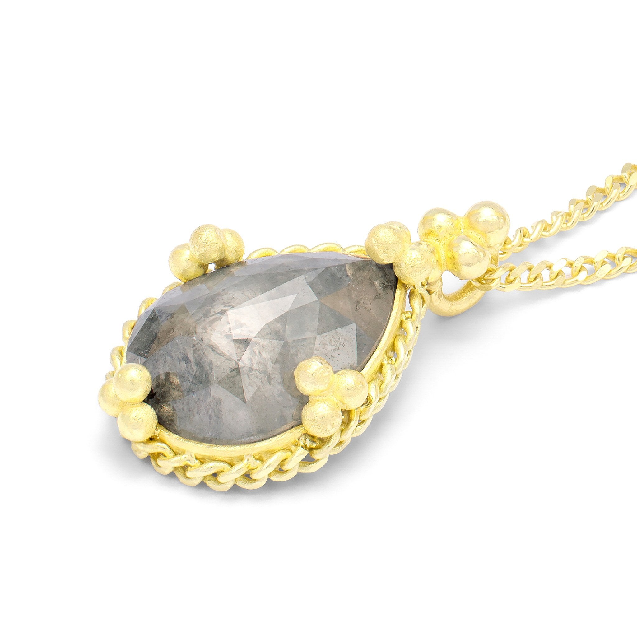 Amali-Silky Grey Diamond Necklace